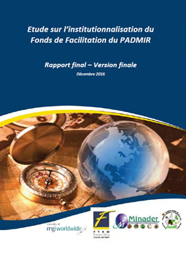 Etude sur l�institutionnalisation du Fonds de Facilitation du PADMIR